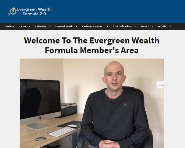 Evergreen Wealth Formula Member Area