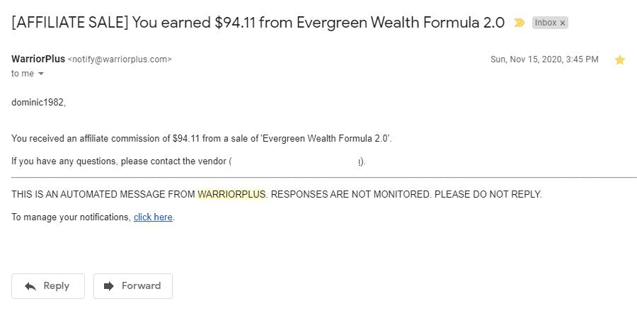 EWF Sales Proof