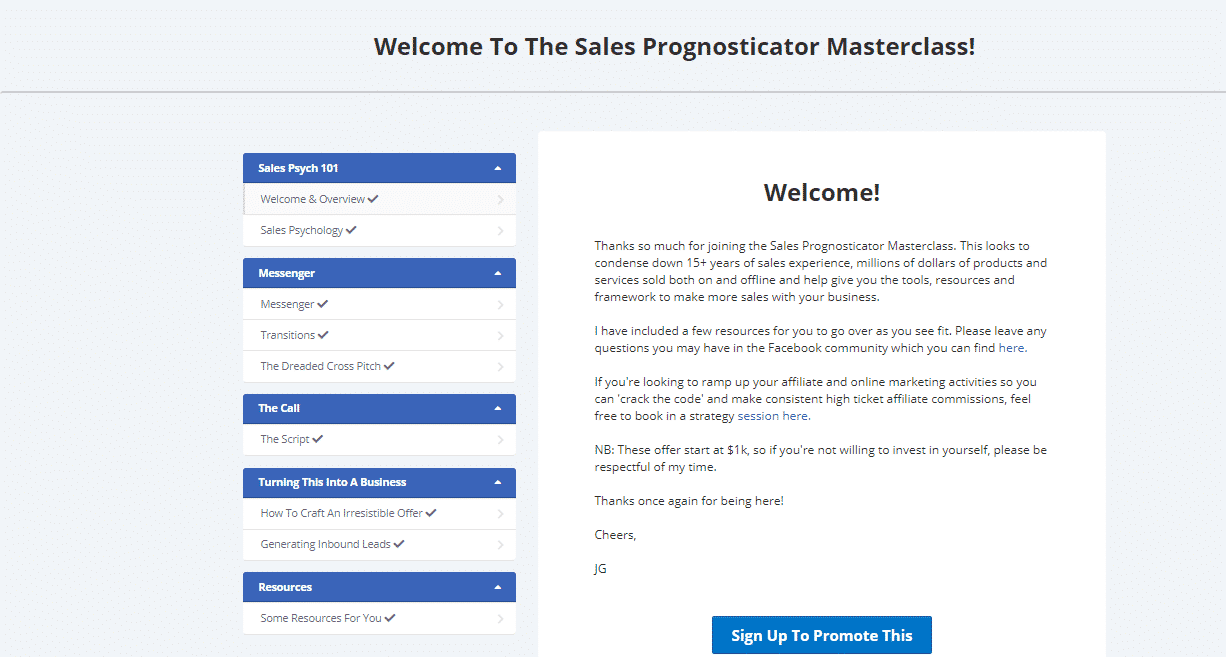 Sales Prognosticator Masterclass Review: A Scientific Approach To Sell Anything Online 2